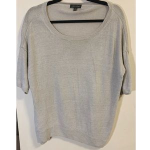 Lord & Taylor 100% Linen Grey Sweater - Size L